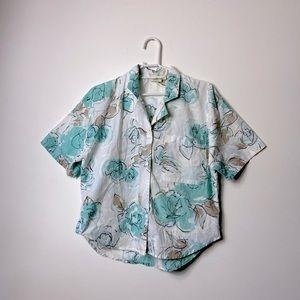 Vintage Floral Button Down Shirt